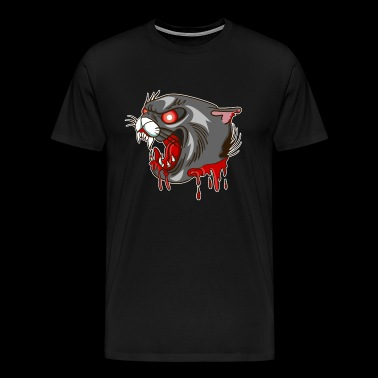 Bloody Panther Tattoo - Blood cat roaring teeth - Men's Premium T-Shirt