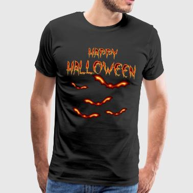 Happy Halloween fladdermöss Allround 008 mönster - Premium-T-shirt herr