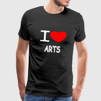 I LOVE ARTS - Men's Premium T-Shirt