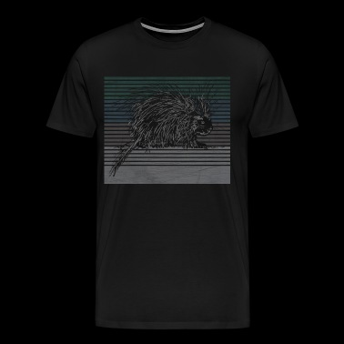 Porcupine hedgehog animal nature gift - Men's Premium T-Shirt