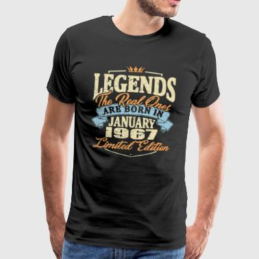 Real legends are born in january 1967 - Men's Premium T-Shirt