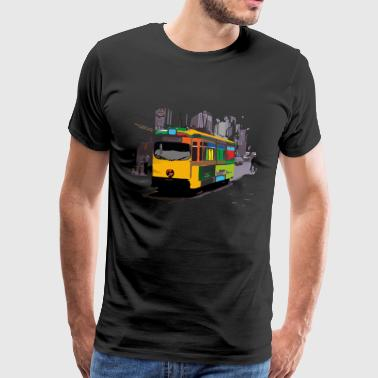 Public transport Tram Ruhrgebiet Seventies 70s - Men's Premium T-Shirt
