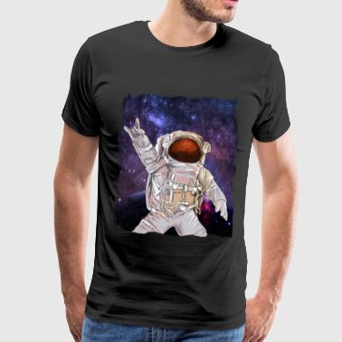 Rock Music Astronaut - Premium T-skjorte for menn