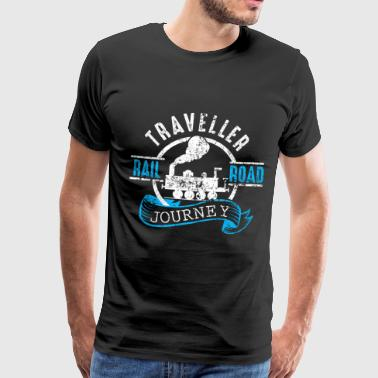 Traveller Rail Road Journey - Mannen Premium T-shirt
