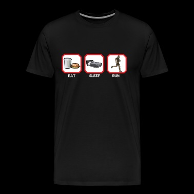 EAT SLEEP RUN - Men's Premium T-Shirt