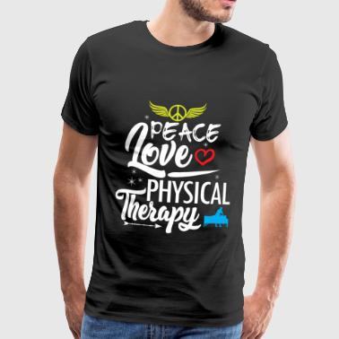 Physiotherapy Peace Love Anniversary - Men's Premium T-Shirt