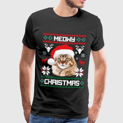 Meowy Christmas Maine Coon Merry Xmas Cat - Männer Premium T-Shirt