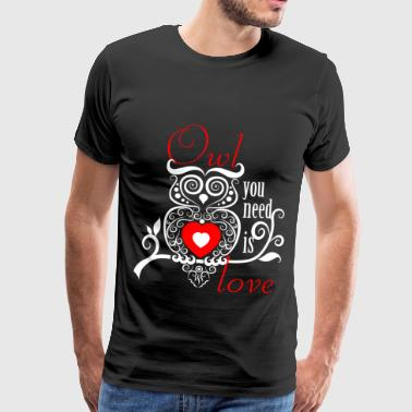 Owls owl gift idea - Men's Premium T-Shirt