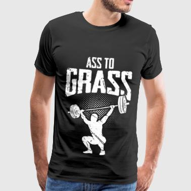 Ass to grass - Männer Premium T-Shirt