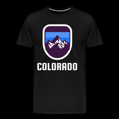 Colorado Rockies Retro Style - Mannen Premium T-shirt