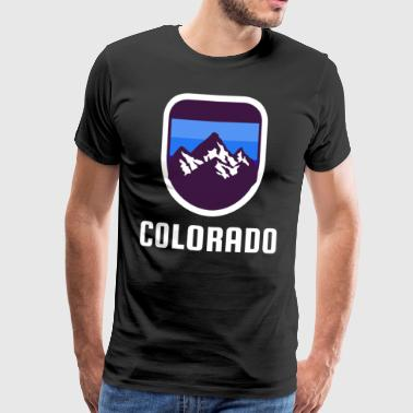 Colorado Rocky Mountains Retro Style - Premium T-skjorte for menn