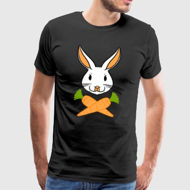 Crossbones Easter Bunny Happy Easter Gift Bunny - Men's Premium T-Shirt