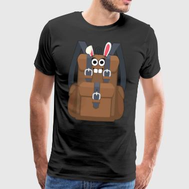 I love mountains hiking easter easter bunny gift - Men's Premium T-Shirt