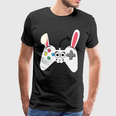 Gamer Gaming konsollen Easter Bunny påske gave - Premium T-skjorte for menn