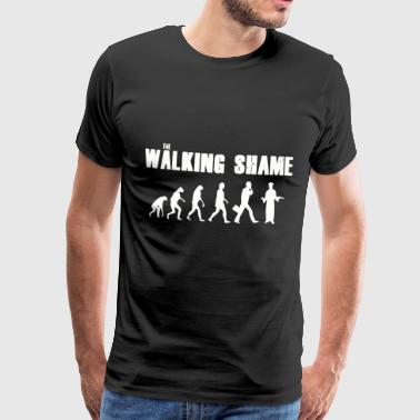 Walking Skam - Vit - Premium-T-shirt herr