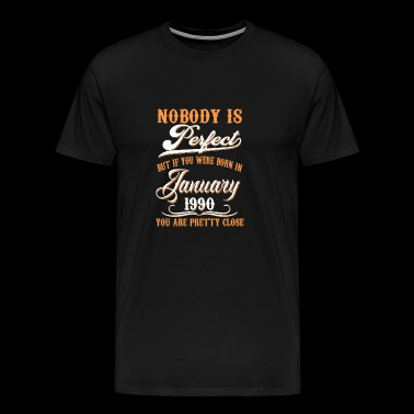 If You Born In January 1990 - Men's Premium T-Shirt