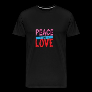 T-shirt Peace and love - T-shirt Premium Homme