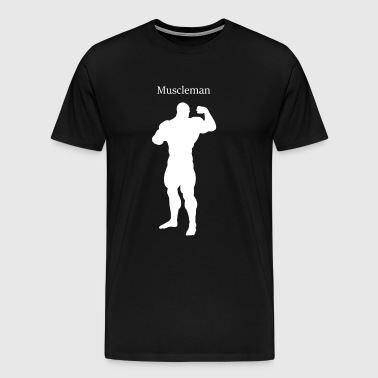 Musculation, muscles, homme, musculation - T-shirt Premium Homme