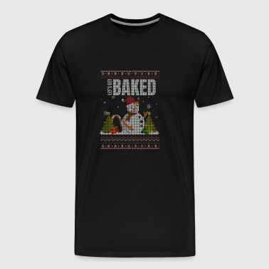 Lets Get Baked - Baking - Christmas - Snowman - Men's Premium T-Shirt