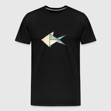 Origami: Fish (parchment paper look) - Men's Premium T-Shirt
