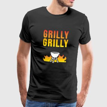 Grilly Grilly - Grillsaison 2018 - Männer Premium T-Shirt