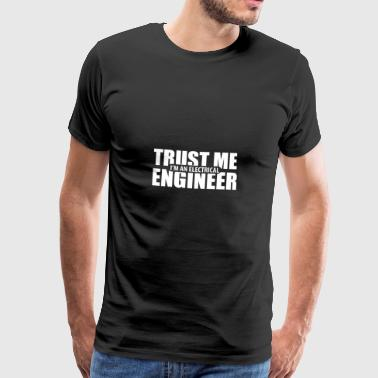 Engineer electrician profession gift - Men's Premium T-Shirt