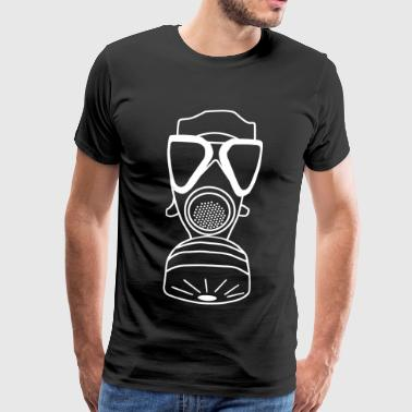Gas mask Federal Armed Forces ABC alert soldier military - Men's Premium T-Shirt