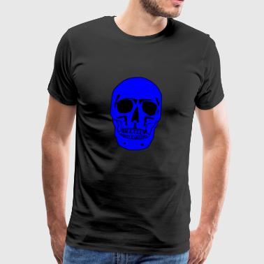 Skull black-blue - Men's Premium T-Shirt