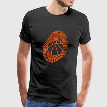 basketball fingerprint ball end - Men's Premium T-Shirt