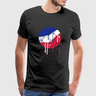 graffiti paint drops france fan celebrate party - Men's Premium T-Shirt