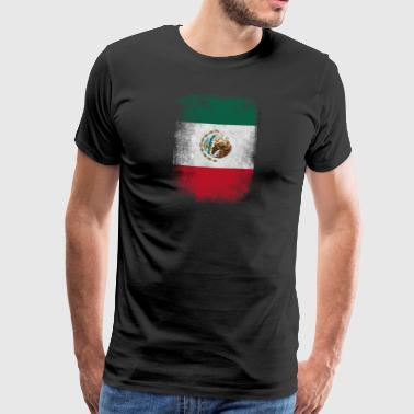 Mexiko-Flagge Proud Mexican Vintage Distressed - Männer Premium T-Shirt