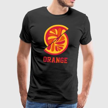 orange orange - Herre premium T-shirt