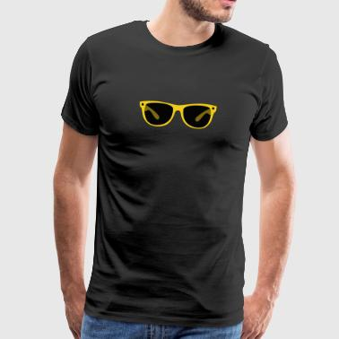 Trendy cool yellow sunglasses gift - Men's Premium T-Shirt