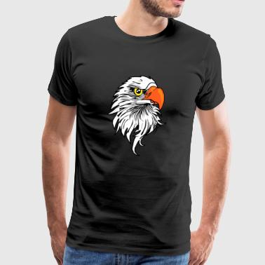 Eagle head eagle gift - Men's Premium T-Shirt