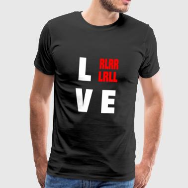 DRUMMER: LOVE drummer - Men's Premium T-Shirt