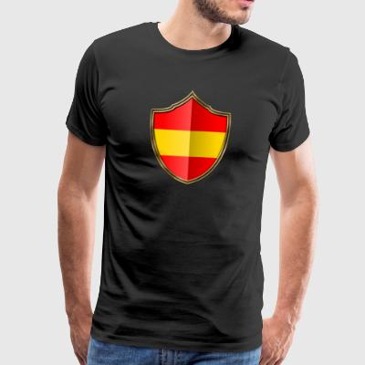 Spain Flag Coat of Arms Gold 016 - Men's Premium T-Shirt