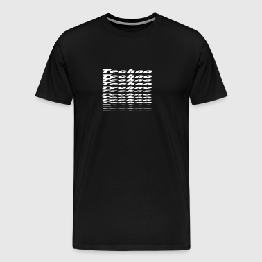 Techno Weiss big to small - Men's Premium T-Shirt