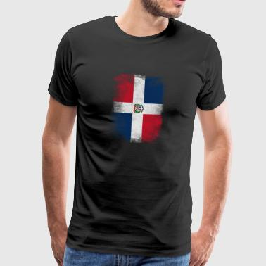 Drapeau Dominic République Dominicaine Vintage Distressed - T-shirt Premium Homme