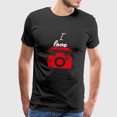 I love photography camera gift I love - Men's Premium T-Shirt