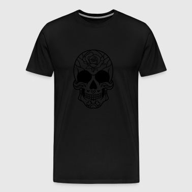 Sugar Skull Mexican rose / sugar skull - Men's Premium T-Shirt