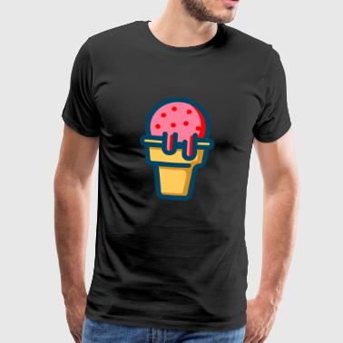 Ice cream ice cream delicious - Men's Premium T-Shirt