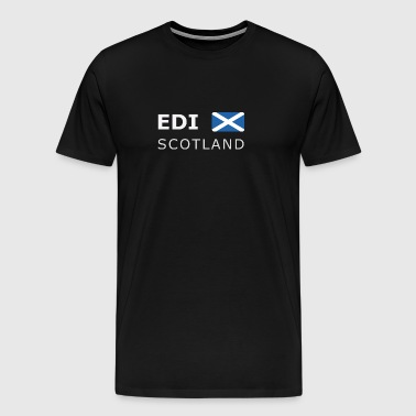 EDI SCOTLAND white-lettered 400 dpi - Men's Premium T-Shirt