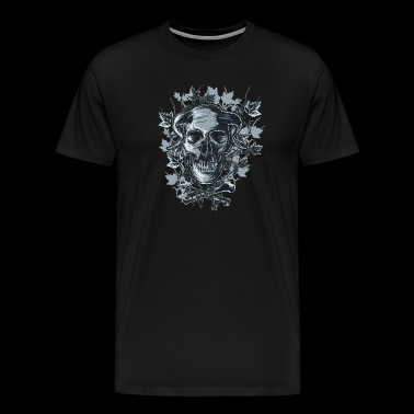 Horned skull. The demonic tarot design. - Men's Premium T-Shirt