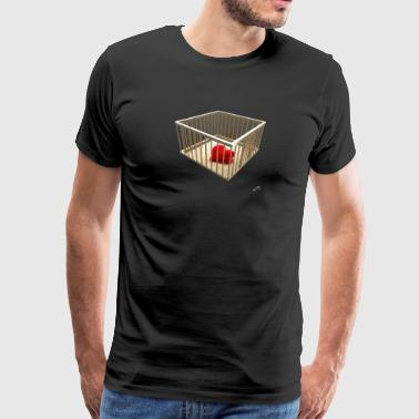 Golden cage with heart - Men's Premium T-Shirt