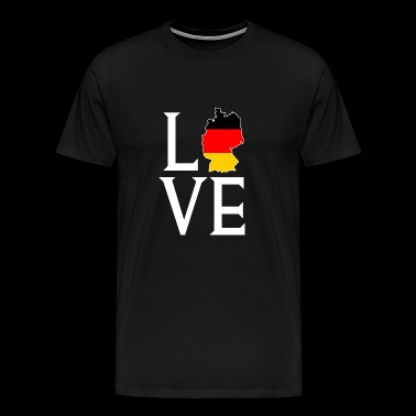 Love Germany - Germany Football Gift - Premium T-skjorte for menn