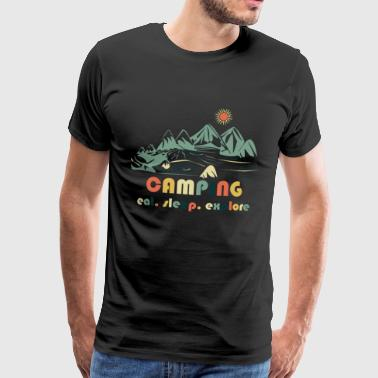 Camping. Eat.Sleep.Explore - Herre premium T-shirt