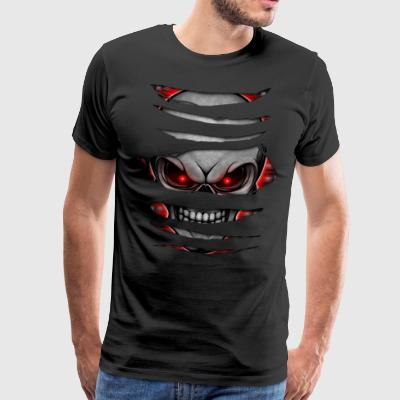 Skull ripped open 007 - Men's Premium T-Shirt