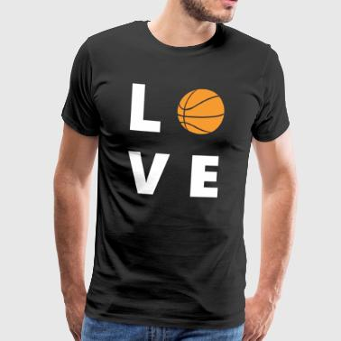Basketball Love Tee Shirt - Herre premium T-shirt