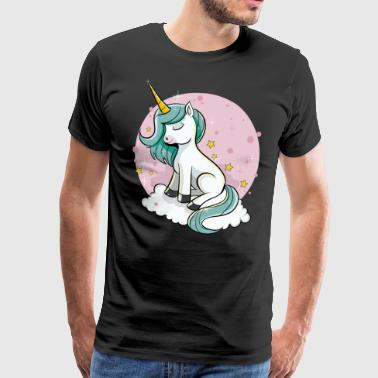 Söpö Unicorn - Unicorn Fairy Dust Magic Horse - Miesten premium t-paita