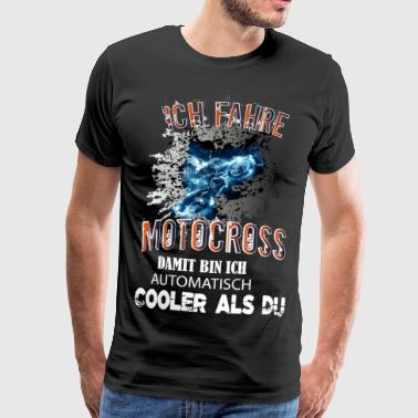 Motocross MX motorcycle - Cooler than you - Men's Premium T-Shirt